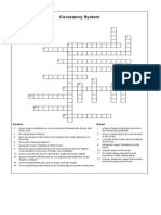 Circulatory System Crossword Puzzle