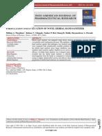 2015  FORMULATION AND EVALUATION OF NOVEL HERBAL HAND SANITIZER.pdf