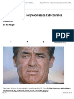 La Antigua Élite de Hollywood Usaba LSD Con Fines Terapéuticos
