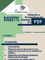 diagnSituación y Perspectivas deSistema Estadístico de El Salvadorostico