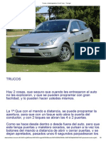 Trucos y Autodiagnostico Ford Focus