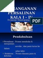Penatalaksanaan persalinan kala I - IV..ppt