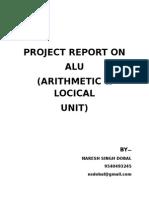 Project Report Arithmetic Logic Unit (ALU)(2)
