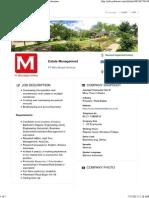 Estate Management _ PT Mitra Megah Sentosa - Pekerjaan