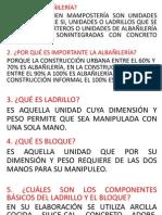 Albañilería estructural preguntas examen