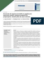 2014 Prevención de Esguinces de Tobillo en Jugadoras de Baloncesto Amateur Mediante Programas de Propiocepción. Estudio Piloto de Casos-controles