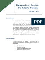 Folleto Diplomado GTH Chiclayo - 2015