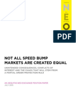 Not All Speed Bump Markets Are Created Equal