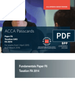 ACCA F6 - Tax FA 2015 Passcards 2015