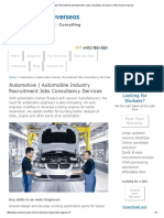 Automobile Industry Recruitment and Automotive Jobs Consultancy Services in UAE _ Aman Overseas