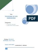Informe de Laboratorio 4  Colisiones en dos dimensiones