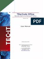 TBarCodeOffice10 User Manual En
