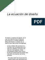 La Ecuación de Diseño Reactor Lecho Fijo
