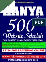 Websekolah Terlengkap Cuma 500 Ribu Rupiah