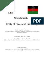 Noon Society Treaty of Peace and Friendship