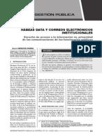 Artículo Habeas Dabeas Data vs Correos Electrónicos Institucionales