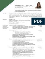 Lara L. Antonio Comprehensive CV (June 2015)
