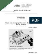 ARTS 3783 Course Outline 2015