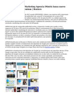 Líder en Internet Marketing Agencia iMatrix lanza nuevo servicio de SEO Premium   Reuters