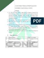 Bases Para Concurso Tesis CONIC 2015