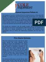Fire Alarm System Inspection Pelham AL