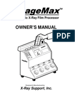 User Manual for X-Ray Support ImageMax Automatic Film Processor