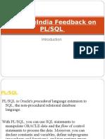 SynapseIndia Feedback on PL or SQL