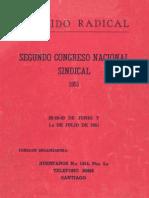 Segundo Congreso Nacional Sindical 1951
