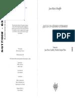 SCHAEFFER - Qué Es Un Género Literario (ENTERO)