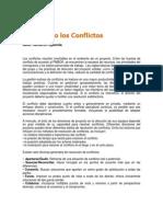 Manejando Los Conflictos organizaciones en proyectos