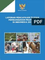 Laporan Pencapaian Tujuan Pembangunan Milenium Di Indonesia 2013