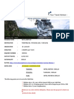 Sample Itinerary-6N in Royal Bhutan Package - 2B09C01[Tour Plan]