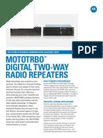 Mototrbo Repeater Spec Sheet | Frequency Modulation | Hertz
