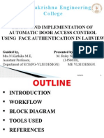 DESIGN AND IMPLEMENTATION OF  AUTOMATIC DOOR ACCESS CONTROL USING  FACE AUTHENTICATION IN LABVIEW