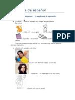 Ejercicios de español - A1 / Spanish exercices - A1