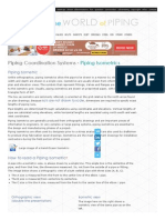 Piping Coordination Systems - Piping Isometrics, Isometric Views and Orthographic Views