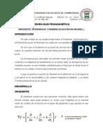 Gradiente, Divergencia y Primera Ecuacion de Maxwell
