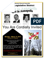 District 23 Night in Annapolis Flyer