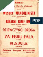 sheets-Stanislas Ratajski - Recueil 5 Grands Succès Polonais (Album n°4)