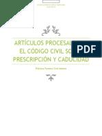 Artículos Procesales en El Código Civil Sobre Prescripción y Caducidad