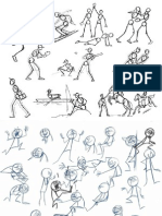 Stick Figure Poses for Animators and Drawing Artists (44 Pages)