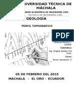 GEOLOGIA perfil topografica