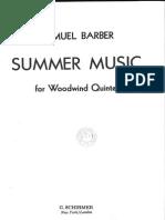 Barber summer music wind quintet