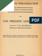 Tareas de organización de los sindicatos