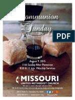 August 9, 2015 Bulletin