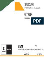 Ge110 Dl4 p71 Parts Catalogue