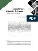 BOLIVAR, América en en El Ensayo de Germán Arciniegas y La Identidad Narrativa