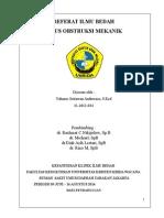 Referat Bedah Umum Ileus Obstruksi (Yohanes S.a 20 Juli 2014)