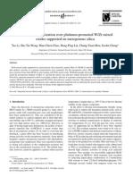 N_pentane Isomerization Over Pt