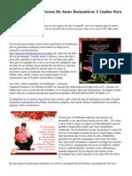 Poemas, Poesia Y Versos De Amor Romanticos Y Lindos Para Fb